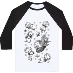 Cats In Space Baseball Tee from LookHUMAN