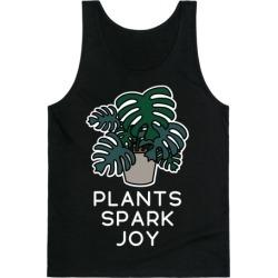Plants Spark Joy Tank Top from LookHUMAN