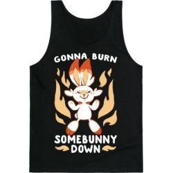 Gonna Burn Somebunny Down - Scorbunny Tank Top from LookHUMAN
