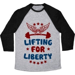 Lifting For Liberty Baseball Tee from LookHUMAN