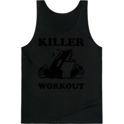 Killer Workout (Orca) Tank Top from LookHUMAN