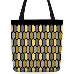 Gold Crystal Pattern Tote Bag from LookHUMAN found on Bargain Bro India from LookHUMAN for $24.99