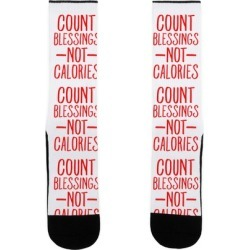 Count Blessings Not Calories Socks from LookHUMAN