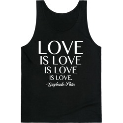 Love is Love (White) Tank Top from LookHUMAN