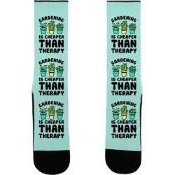 Gardening Is Cheaper Than Therapy Socks from LookHUMAN