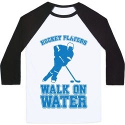 Hockey Players Walk On Water Baseball Tee from LookHUMAN