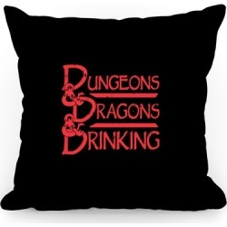 Dungeons & Dragons & Drinking Throw Pillow from LookHUMAN