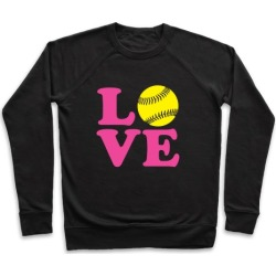 Love Softball Pullover from LookHUMAN