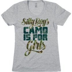 Silly Boys Camo is for Girls T-Shirt from LookHUMAN