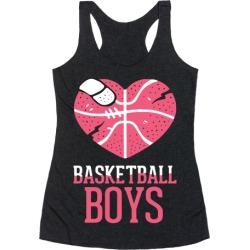 Basketball Boys Racerback Tank from LookHUMAN