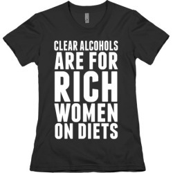 Clear Alcohol T-Shirt from LookHUMAN