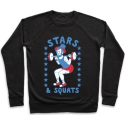 Stars and Squats Pullover from LookHUMAN