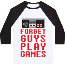 Forget Guys Play Games Baseball Tee from LookHUMAN