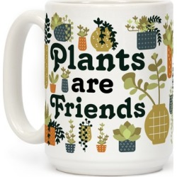 Plants Are Friends Retro Mug from LookHUMAN