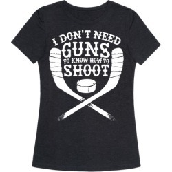 I Don't Need Guns To Know How To Shoot T-Shirt from LookHUMAN found on Bargain Bro from LookHUMAN for USD $19.75