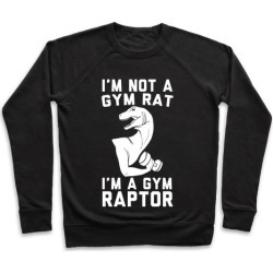 I'm Not a Gym Rat, I'm a Gym Raptor Pullover from LookHUMAN