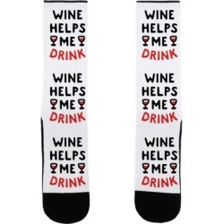 Wine Helps Me Drink Socks from LookHUMAN