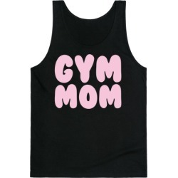 Gym Mom White Print Tank Top from LookHUMAN found on Bargain Bro Philippines from LookHUMAN for $25.99