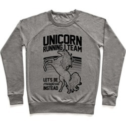 Unicorn Running Team Pullover from LookHUMAN