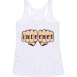 Internet Knuckles Racerback Tank from LookHUMAN found on Bargain Bro Philippines from LookHUMAN for $25.99