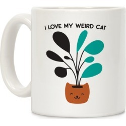 I Love My Weird Cat (Plant) Mug from LookHUMAN