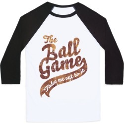 The Ball Game Baseball Tee from LookHUMAN