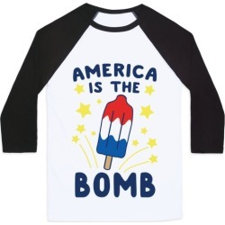America is the Bomb - Pop Baseball Tee from LookHUMAN