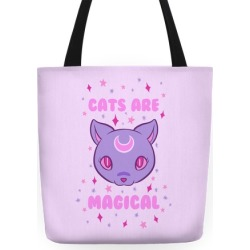 Cats Are Magical Tote Bag from LookHUMAN