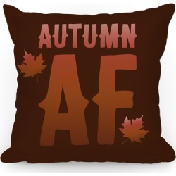 Autumn Af Throw Pillow from LookHUMAN found on Bargain Bro India from LookHUMAN for $25.99