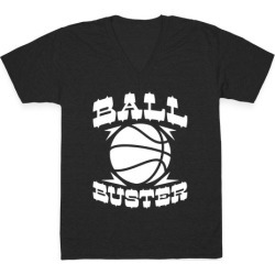 Ball Buster (Basketball) V-Neck T-Shirt from LookHUMAN