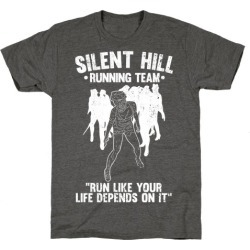 Silent Hill Running Team (White) T-Shirt from LookHUMAN