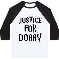 Justice For Dobby Parody Baseball Tee from LookHUMAN