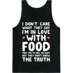 Bleeding Love For Food Tank Top from LookHUMAN
