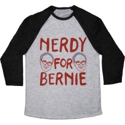 Nerdy For Bernie Baseball Tee from LookHUMAN