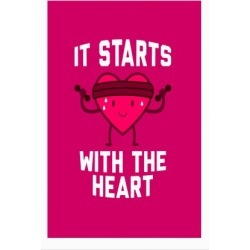It Starts With The Heart Poster from LookHUMAN found on Bargain Bro India from LookHUMAN for $23.00