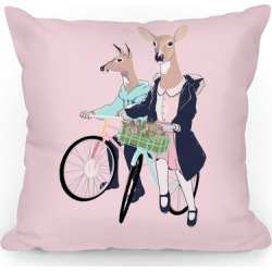 Neighborhood Bike Gang Throw Pillow from LookHUMAN found on Bargain Bro India from LookHUMAN for $34.99
