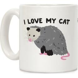 I Love My Cat Opossum Mug from LookHUMAN
