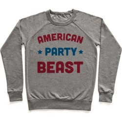 AMERICAN PARTY BEAST Pullover from LookHUMAN
