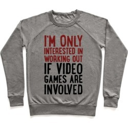 Video Game Workout Pullover from LookHUMAN