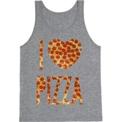 I Heart Pizza Tank Top from LookHUMAN