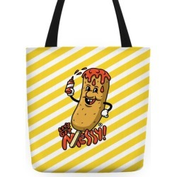 Let's Get Messy Corndog Tote Bag Tote Bag from LookHUMAN