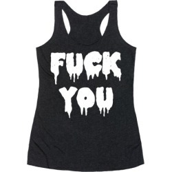 F*** Off (Vintage) Racerback Tank from LookHUMAN