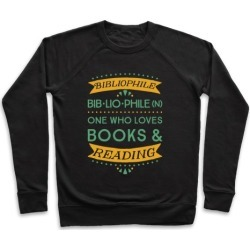 Bibliophile Definition Pullover from LookHUMAN
