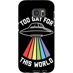 Too Gay For This World Phone Case from LookHUMAN
