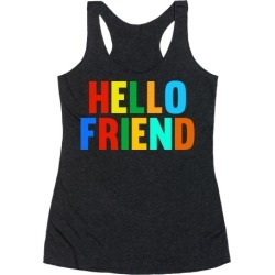 Hello Friend Racerback Tank from LookHUMAN found on Bargain Bro Philippines from LookHUMAN for $25.99