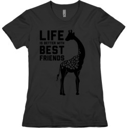 Life Is Better With Best Friends b T-Shirt from LookHUMAN