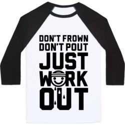 Just Workout Baseball Tee from LookHUMAN