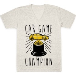 Car Game Champion V-Neck T-Shirt from LookHUMAN
