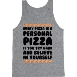 Personal Pizza Tank Top from LookHUMAN