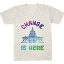 Change Is Here Congress V-Neck T-Shirt from LookHUMAN found on Bargain Bro from LookHUMAN for USD $21.27